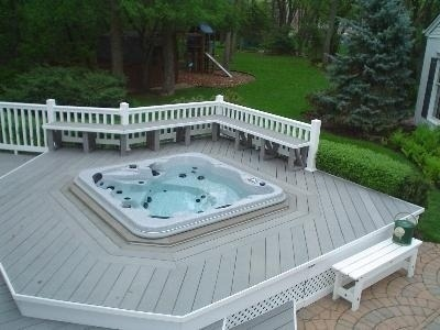 arctic spas hot tub overhead hot tub view
